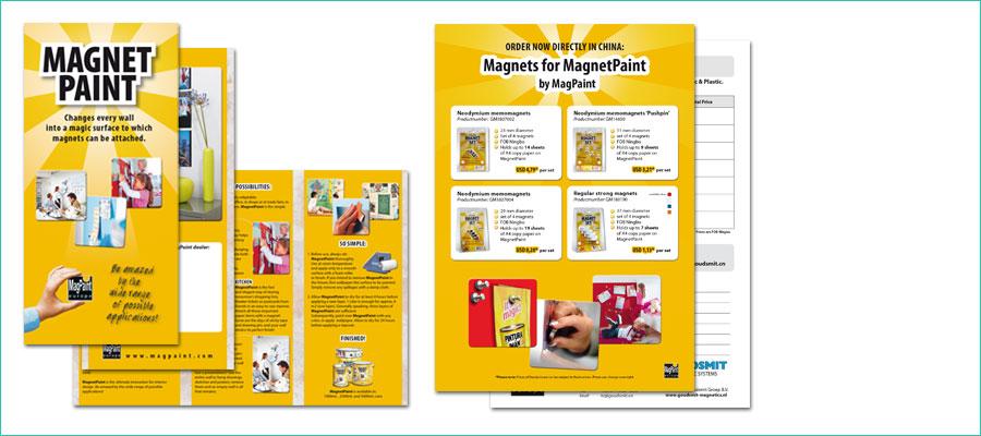 <p></p> <p>3-luik folder, 98x210 mm, full colour.</p> <p>A4 reclamefolder, tweezijdig, full colour.</p> <p>In opdracht van MagPaint Europe, Veldhunten</p>