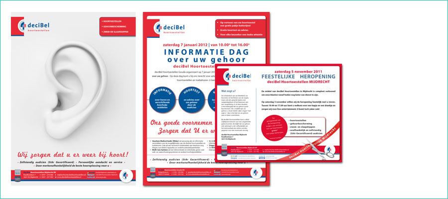 <p></p> <p>Verschillende formaten advertenties voor deciBel Hoortoestellen.</p> <p>In opdracht van deciBel Hoortoestellen b.v.</p>