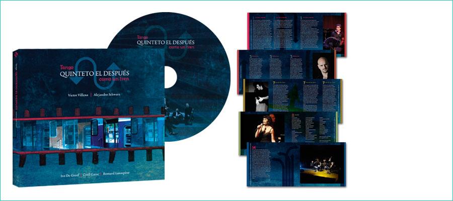 <h2></h2> <p>Drieluik CD verpakking met ingeplakt boekje, 40 pagina's.</p> <p>In opdracht van de Silvox Studio.</p>