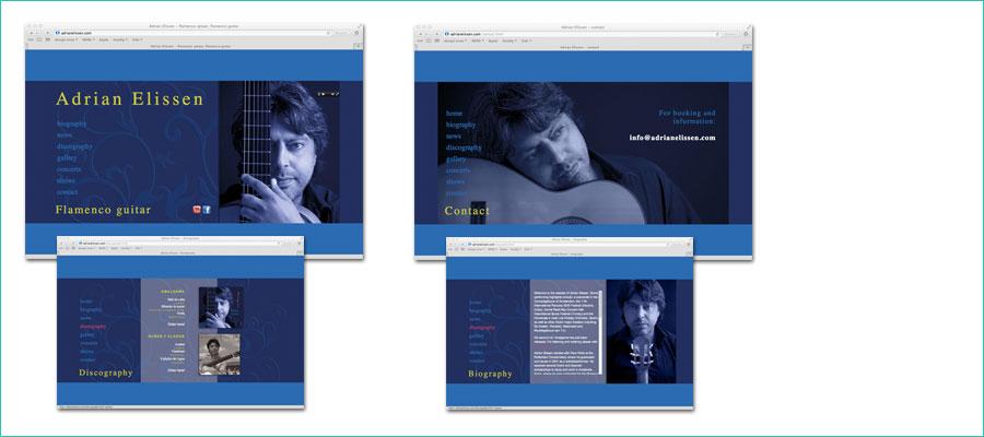 <p><br />Website ontwerp en html voor Adrian Elissen.</p> <p></p>